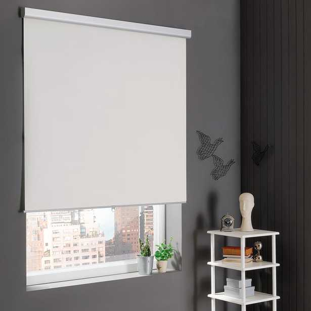 Home Decorators Collection Self-Cleaning Cut-to-Width Natural Cordless Blackout Roller Shade 72 in. W x 78 in. L - Home Depot