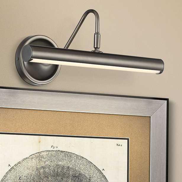 """Renaissance 16"""" Wide Plated Matte Black LED Picture Light - Style # 61H65 - Lamps Plus"""