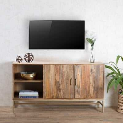 "Pierpoint Storage Media TV Stand for TVs up to 48"" - Wayfair"