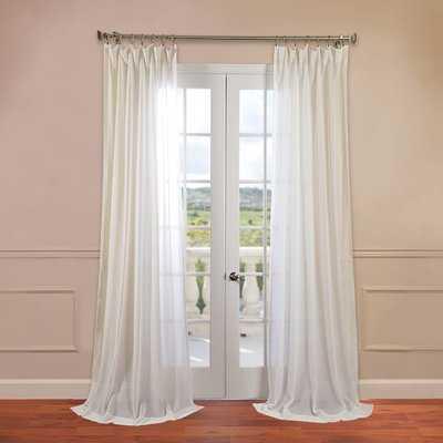 Cris Solid Sheer Rod Pocket Single Curtain Panel - AllModern