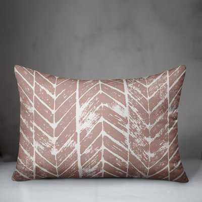Skyline Distressed Chevron Lumbar Pillow - Wayfair