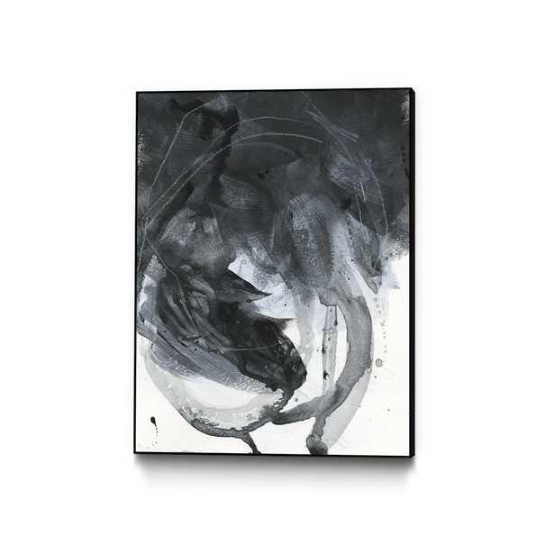 "CLICART 30 in. x 40 in. ""Broken Abstract I"" by Jennifer Paxton Parker Framed Wall Art, Neutral - Home Depot"