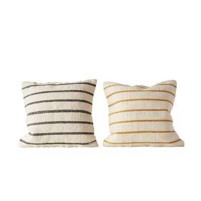 Balic Striped Wool Throw Pillow - Birch Lane