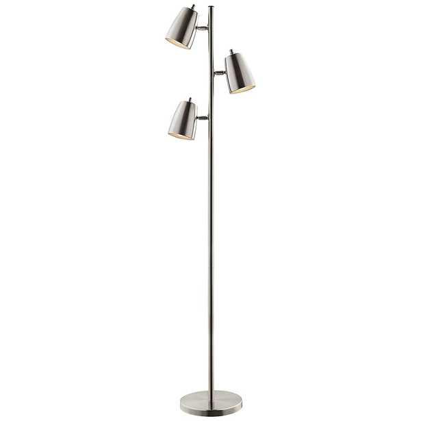 Lite Source Ronnie Brushed Nickel 3-Light Tree Floor Lamp - Style # 42G09 - Lamps Plus