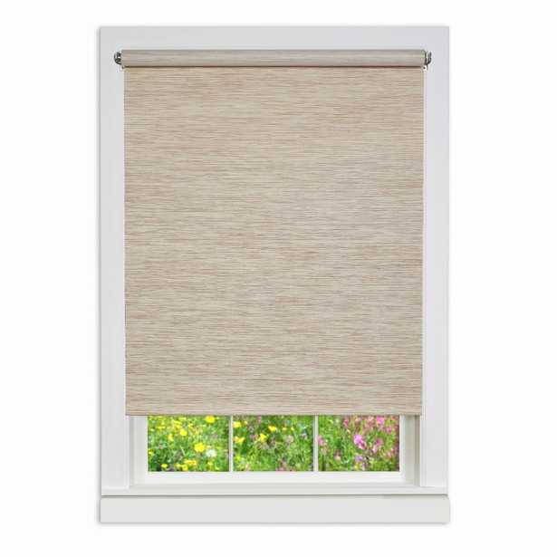 Achim Natural Cordless Fabric Privacy Roller Shade - 70 in. W x 72 in. L - Home Depot