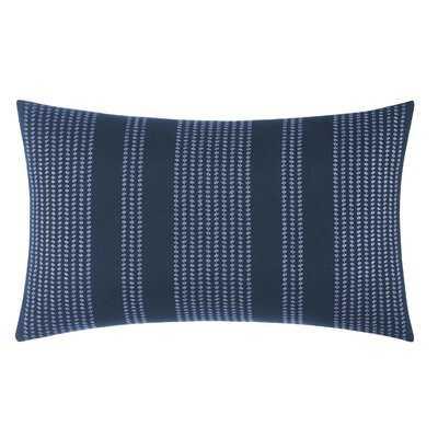 Candler Embroidered Cotton Lumbar Pillow - Wayfair