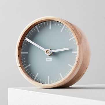 Tait Desktop Clock, Glacier - West Elm