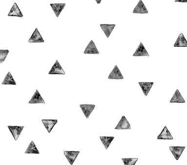 Chasing Paper Wallpaper, Stamped Triangles - Pottery Barn Kids