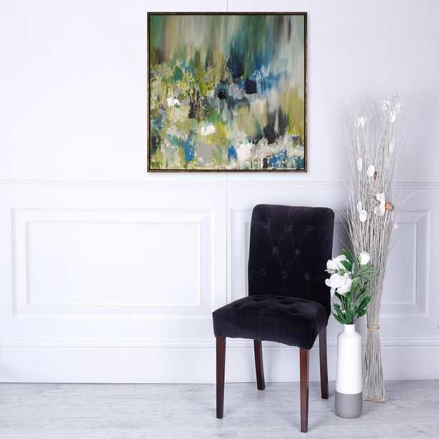 """Images 2000 42 in. x 42 in. """"Summer Pond II"""" by Sanjay Patel Hand Painted Wall Art - Home Depot"""