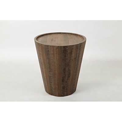 Limones Solid Wood Tray Top Drum End Table - Wayfair