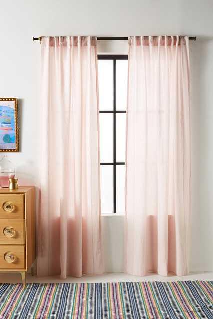 Stitched Linen Curtain - Anthropologie
