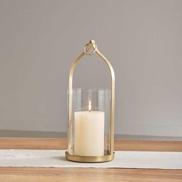 "Priya 16"" Brass Lantern - Crate and Barrel"