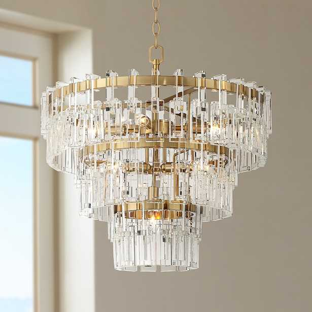 """Donegan 23 1/2""""W Burnished Brass 8-Light Crystal Chandelier - Style # 64T05 - Lamps Plus"""
