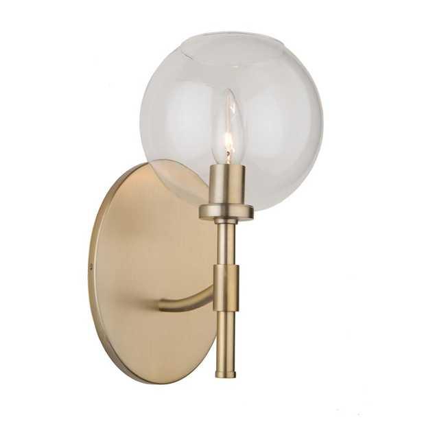 ARTCRAFT 1-Light Satin Brass Sconce - Home Depot