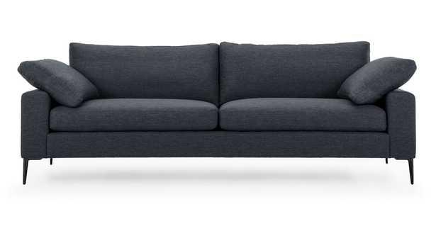 Nova Bard Gray Sofa, Black Legs - Article