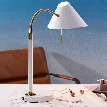 Mid,Century Task Table Lamp + USB-Individual - West Elm