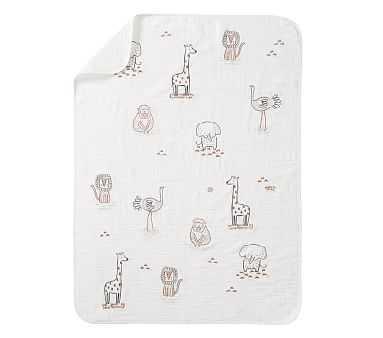 Rowan Muslin Baby Blanket, Stroller Blanket, Natural - Pottery Barn Kids