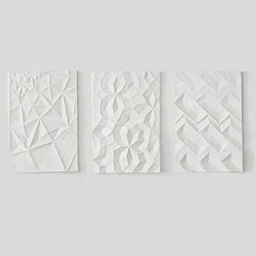 Paper Mache Geo Panel Wall Art, Assorted Set of 3 - West Elm
