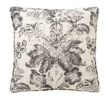 "Thea Print Pillow Cover, Gray Multi, 20"" - Pottery Barn"