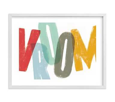 Vroom Wall Art by Minted(R), 24x18, White - Pottery Barn Kids