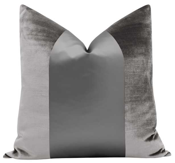 "PANEL Monochromatic :: Faux Silk Velvet // Chrome - 20"" X 20"" - Little Design Company"