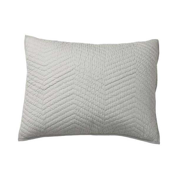 Company Gray Cotton Standard Sham - Home Depot