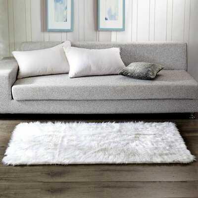 Matheson Shag White Area Rug - Wayfair