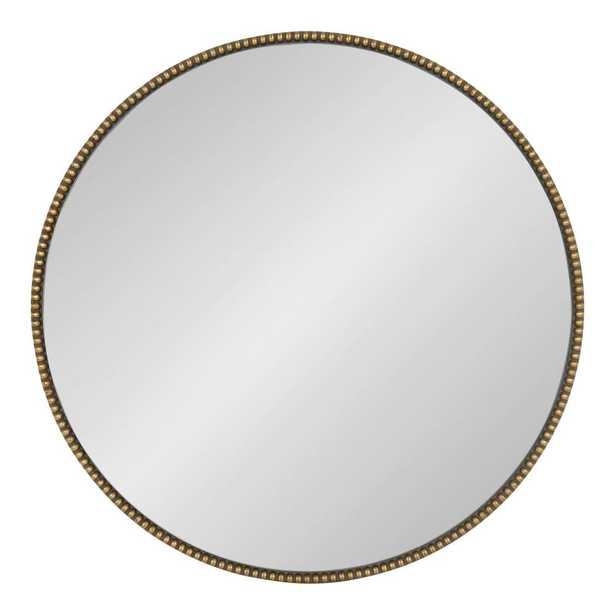 Gwendolyn Round Gold Wall Mirror - Home Depot