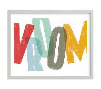 Vroom Wall Art by Minted(R), 14x11, Gray - Pottery Barn Kids