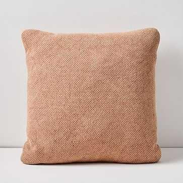 "Outdoor Garment Washed Pillow, 20""x20"", Dark Sunstone - West Elm"