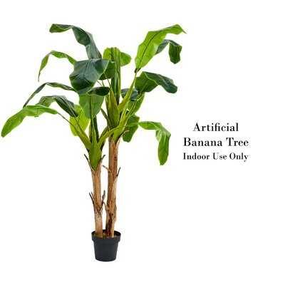 Artificial Banana Leaf Tree in Pot - Wayfair