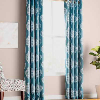 Kassie Damask Room Darkening Thermal Grommet Curtain Panels - Birch Lane