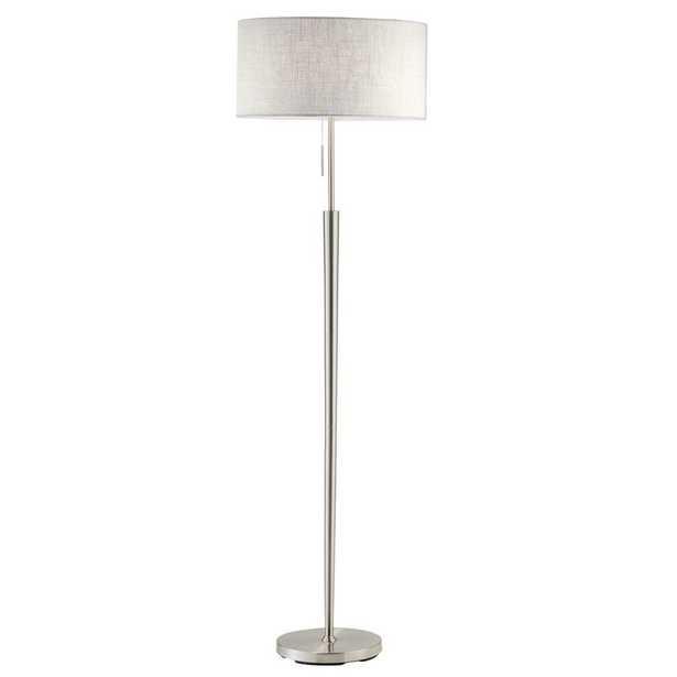Adesso Hayworth 65 in. Satin Steel Floor Lamp - Home Depot