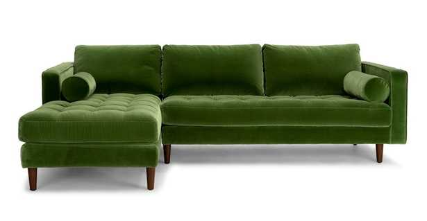 Sven Grass Green Left Sectional Sofa - Article