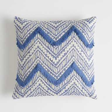 """Woven Chevron Pillow Cover, 18""""x18"""", Periwinkle - Pottery Barn Teen"""
