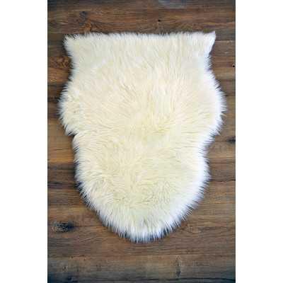 Faux Sheepskin White Area Rug - Wayfair