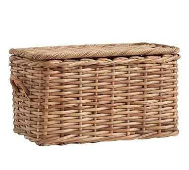 Aubrey Woven Lidded Baskets, Large - Natural - Pottery Barn