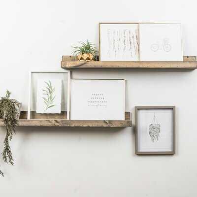 Benevides Shallow Rustic Luxe 2 Piece Wall Shelf Set - AllModern
