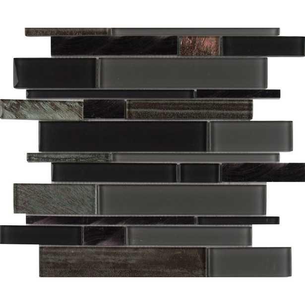 MSI Metallica Interlocking 12 in. x 12 in. x 6 mm Glass/Metal Mesh-Mounted Mosaic Tile (15 sq. ft. / case), Gray - Home Depot