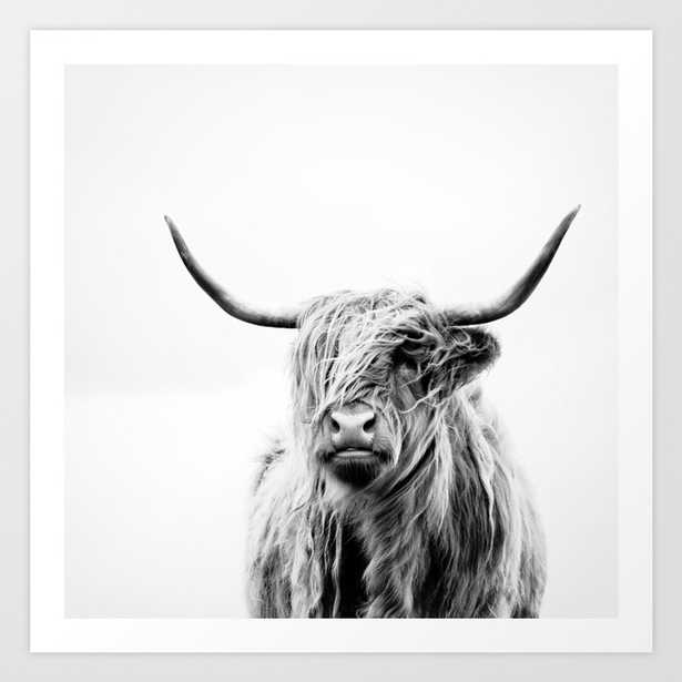 portrait of a highland cow Art Print - Small by Doritfuhg - Society6