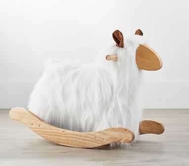 Mongolian Fur Lamb Rocker, White - Pottery Barn Kids
