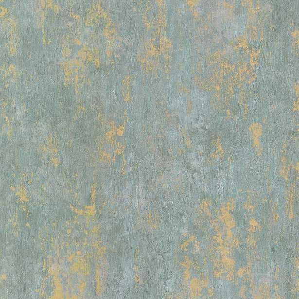 Norwall Regal Texture Wallpaper, Metallic Gold/Blue/Blue - Home Depot