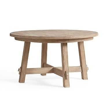 Toscana Extending Pedestal Table, Seadrift - Pottery Barn