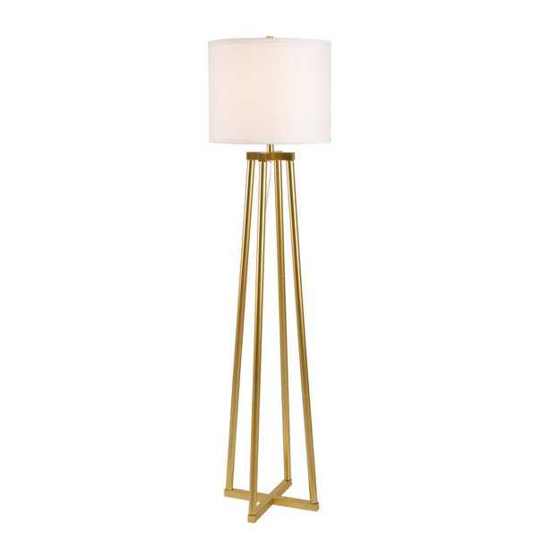 Kenroy Home Annalee 60 in. Gold Floor Lamp - Home Depot