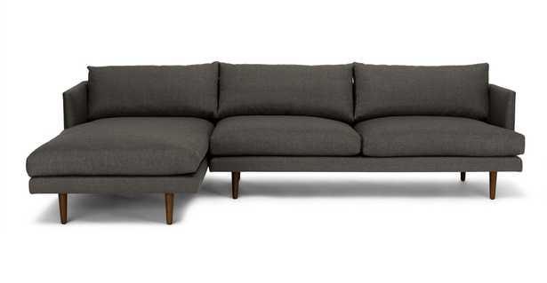 Burrard Graphite Gray Left Sectional Sofa - Article