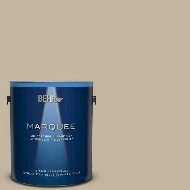 BEHR MARQUEE 1 gal. Home Decorators Collection #hdc-NT-09 Basic Khaki Satin Enamel Interior Paint and Primer - Home Depot