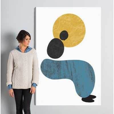 Abstract Lady Painting Print on Wrapped Canvas - AllModern