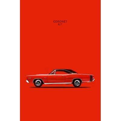 '1968 Dodge Coronet R/T 426 Hemi' Graphic Art Print on Canvas - Wayfair