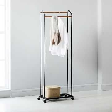 Rolling Garment Rack, Black - West Elm
