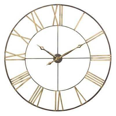 "Oversized Mosher Round Metal 40"" Wall Clock - Wayfair"